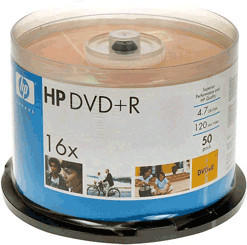 HP DVD+R 4,7GB 120min 16x 50er Spindel