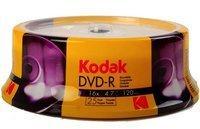 Kodak DVD-R 4.7Gb 120Min 16-fache Schreibgeschwindigkeit, 25er Cakebox