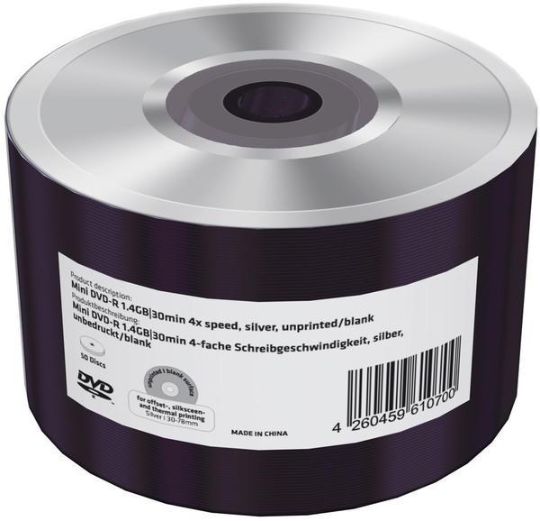 Tansun DVD-R 1,4Gb mini 30min 4x 50er Folien-Pack