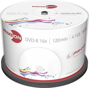 Primeon DVD-R 4,7 GB Photo-On-Disc Ultragloss bedruckbar 50er Spindel