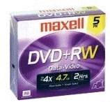 Maxell DVD+RW 4,7GB 120min 4x 5er Jewelcase