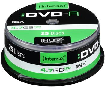 Intenso DVD-R 4,7GB 120min 16x 25er Spindel
