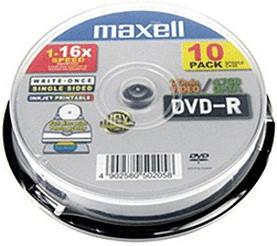 Maxell DVD-R 4,7GB 120min 16x 10er Spindel