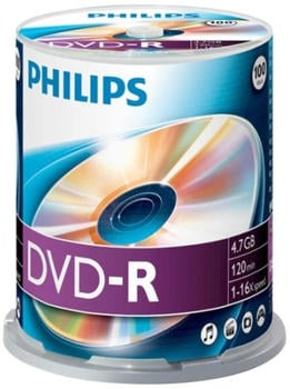 Philips DVD-R 4,7GB 120min 16x 100er Spindel
