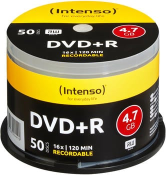 Intenso DVD+R 4,7GB 120min 16x 50er Spindel