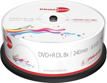 Primeon DVD+R Double Layer 8,5 GB Photo-On-Disc 25er