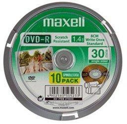 Maxell DVD-R Mini 1,4GB 30min 4x 10er Spindel
