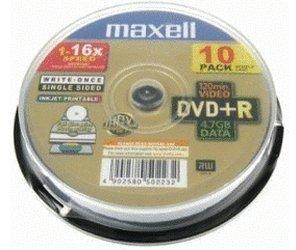 Maxell DVD+R 4,7GB 120min 16x bedruckbar 25er Spindel