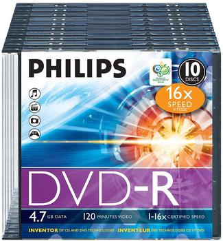 Philips DVD-R 4,7GB 120min 16x 10er Slimcase