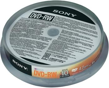 Sony DVD-RW 4,6GB 2x 10er Cakebox (0027242852716)