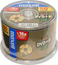 Maxell DVD+R 4,7GB 120min 16x 50er Spindel