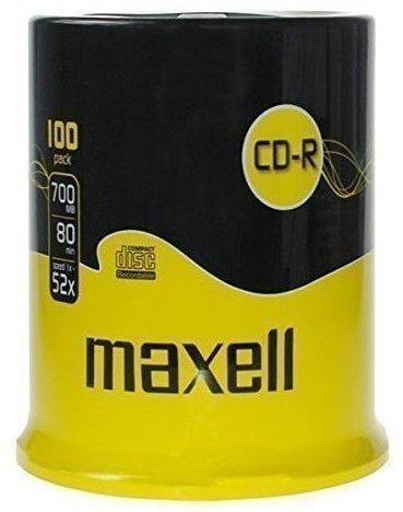 Maxell CD-R 700MB 80min 52x 100er Spindel