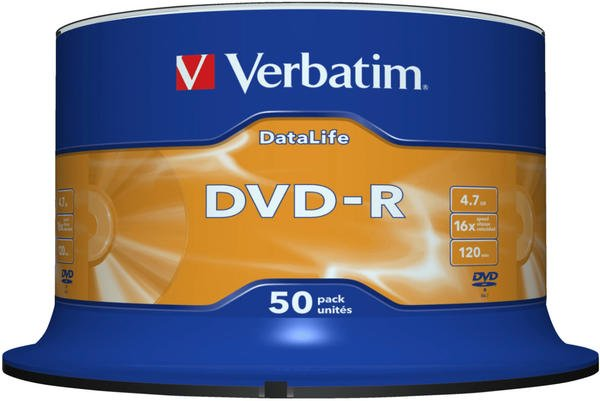 Verbatim DVD-R 4.7GB 16x 50stk Spindel (43814)