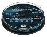 MediaRange 20 (2x 10) MediaRange Rohlinge Dvd+R DL 8,5Gb 8x printable