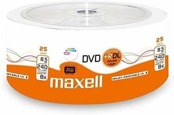 Maxell DVD+R DL Double Layer, 8X Speed, 8,5Gb, 25er Shrink, bedruckbar