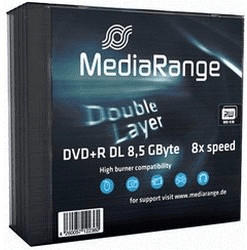 MediaRange 50 Mediarange Rohlinge DVD+R Double Layer 8,5GB 8x Slimcase