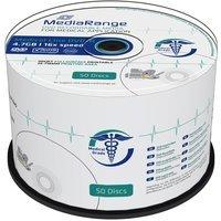 MediaRange 50 Mediarange Rohlinge DVD-R full printable Medical Line 4,7GB 16x Spindel