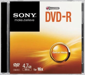 Sony DVD-R 4,7GB (120 Min.) 16x Slim Jewel Case