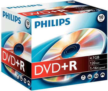 Philips DVD+R 4,7GB 120min 16x 10er Jewelcase