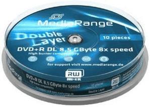 MediaRange DVD+R DL 8,5GB 240min 8x 10er Spindel