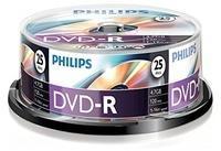 Philips DVD-R 4,7GB 120min 16x 25er Spindel