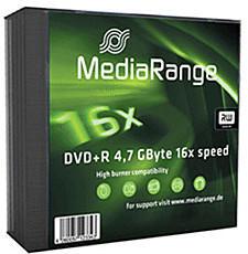 MediaRange DVD+R 4,7GB 120min 16x 5er Slimcase