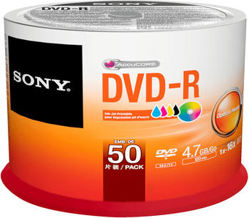 Sony DVD-R Rohling 4.7 GB 50 St. Spindel