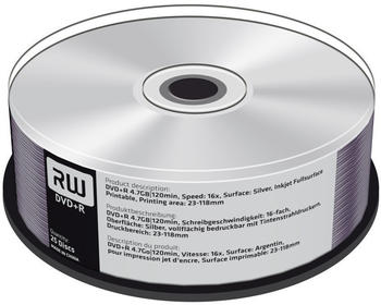 MediaRange DVD+R 4,7GB 120min 8x Silver bedruckbar 25er Spindel