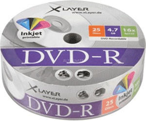 Xlayer DVD-R 4,7GB 120min 16x 25er Spindel