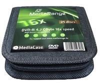 MediaRange DVD+R 4,7GB 120min 16x 25er Mappe