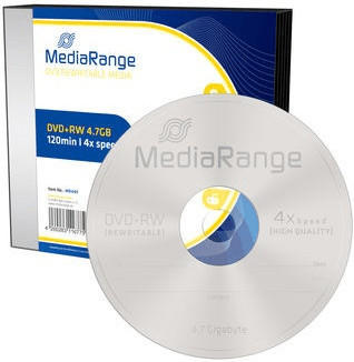 MediaRange DVD+RW 4,7GB 4x 5er Slimcase