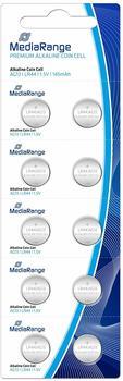 MediaRange Premium Alkaline Knopfzellen, AG13|LR44|1.5V, 10er Pack