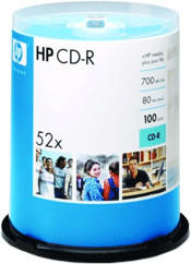 HP CD-R 700MB 80min 52x 100er Spindel