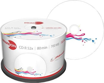 Primeon CD-R 700MB 80min 52x Photo on Disc bedruckbar 50er Spindel