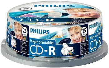 Philips CD-R bedruckbar 700MB 80min 25er Spindel