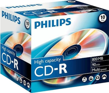 Philips CD-R 800MB 90min 10er Jewelcase