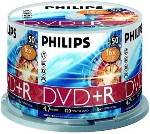 Philips DVD+R 4,7GB 120min 16x 50er Spindel