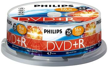 Philips DVD+R 4,7GB 120min 16x 25er Spindel
