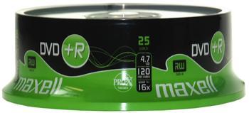 Maxell DVD+R 4,7GB 120min 16x 25er Spindel