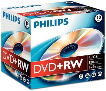 Philips DVD+RW 4,7GB 120min 4x 10er Jewelcase