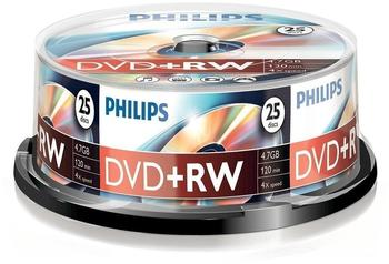 Philips DVD+RW 4,7GB 120min 4x 25er Spindel