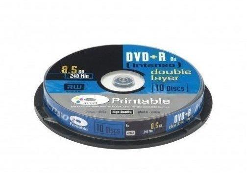 Intenso DVD+R DL 8,5GB 240min 8x bedruckbar 10er Spindel