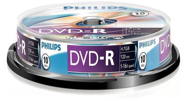 Philips DVD-R 4,7GB 120min 16x 10er Spindel