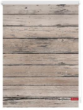 Lichtblick Klemmrollo ohne Bohren Bretter 45x150cm braun