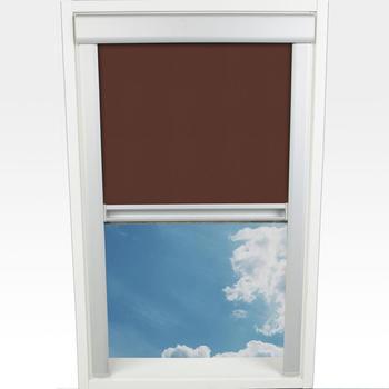 Liedeco Dachfensterrollo Verdunkelung 38,5x54cm braun
