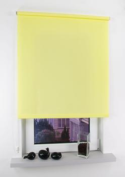 Liedeco Seitenzugrollo Easy Lichtschutz 122x180cm gelb