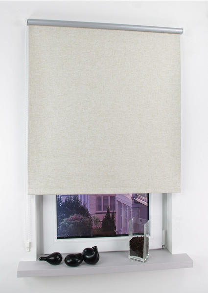 Liedeco Seitenzugrollo Easy Lichtschutz 82x180cm silberfarben