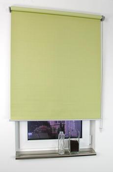 Liedeco Seitenzugrollo Struktur verdunkelnd 142x175cm lindgrün