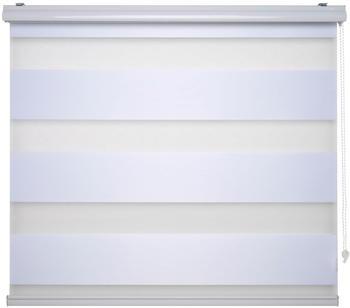 Liedeco Duo-Rollo mit 20cm Streifen 60x160cm weiß