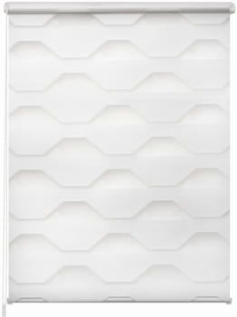 K-home Doppelrollo Trapez 40x150cm weiß